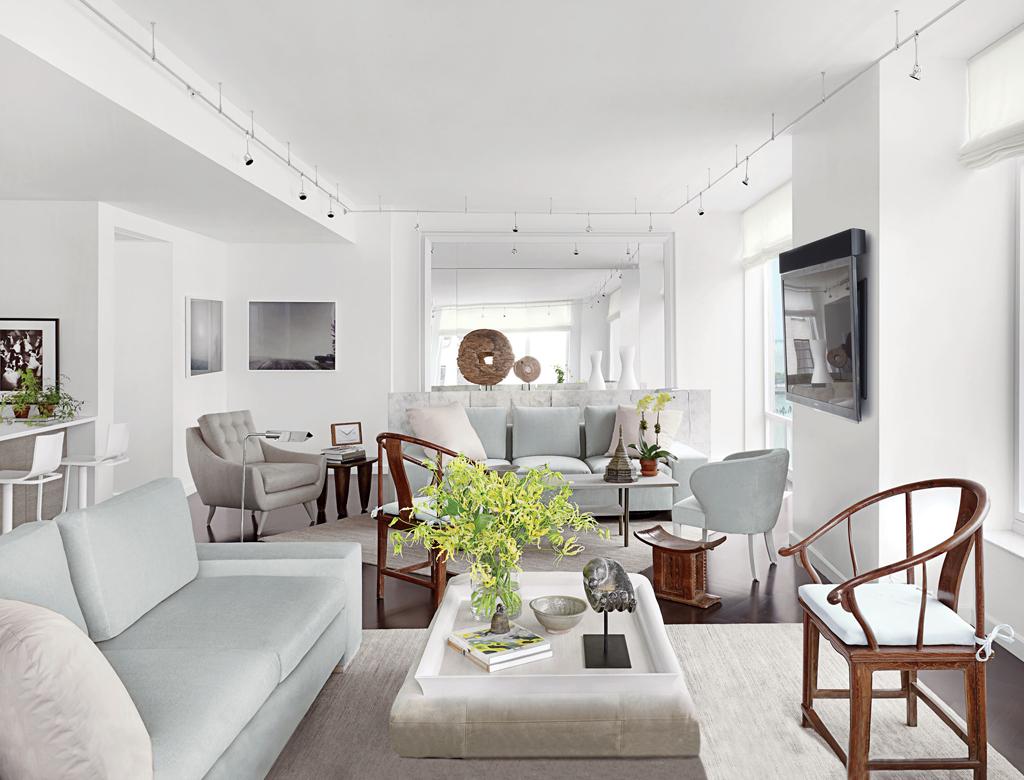 biały salon | styl nowojorski w Imperium Wnętrz Kokotów 922