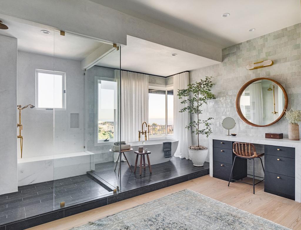 nowoczesna łazienka | styl nowojorski w Imperium Wnętrz Kokotów 922
