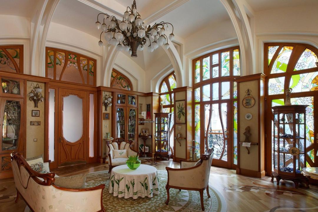 Wnętrze w stylu art nouveau w Imperium Wnętrz Kokotów 922