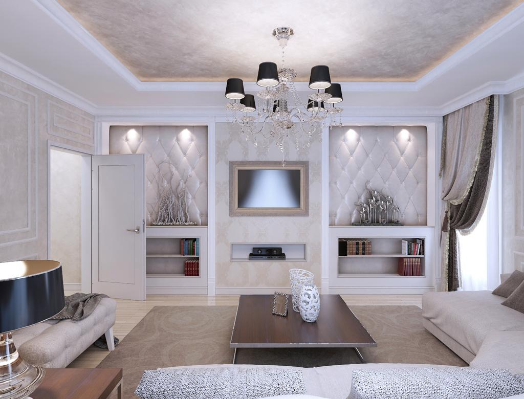 Oświetlenie salonu w stylu Art Deco   wykończenia pod klucz w Imperium Wnętrz Kokotów 922