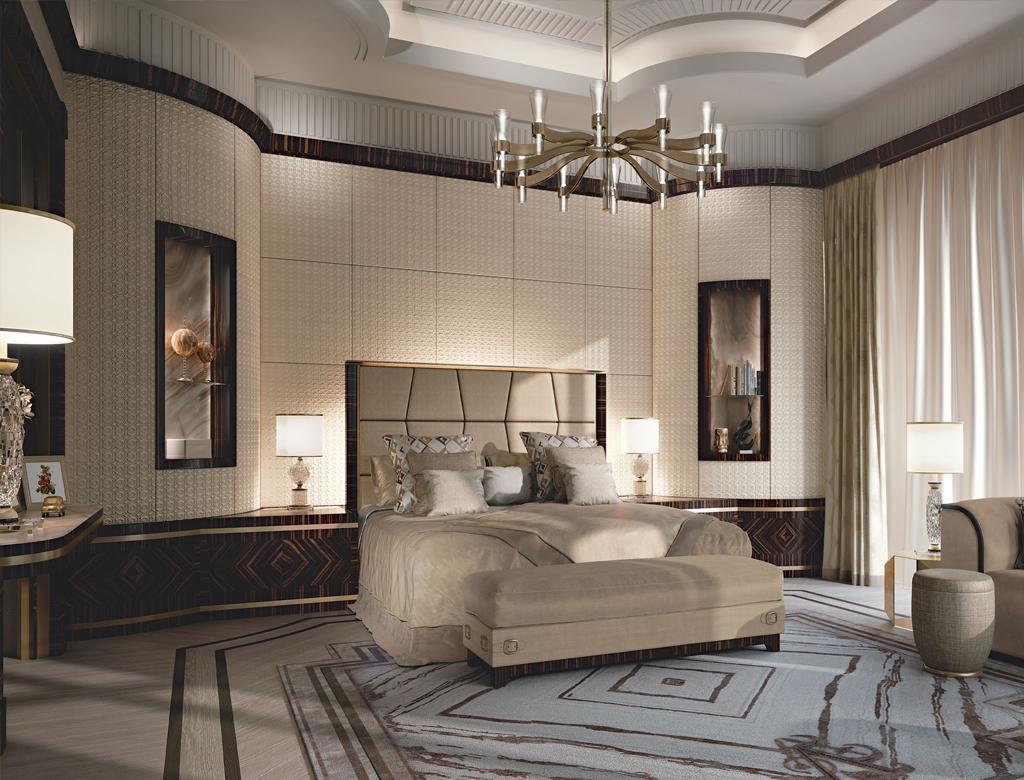 przykład wykończenia sypialni pod klucz w stylu włoskim | Imperium Wnętrz Kokotów 922