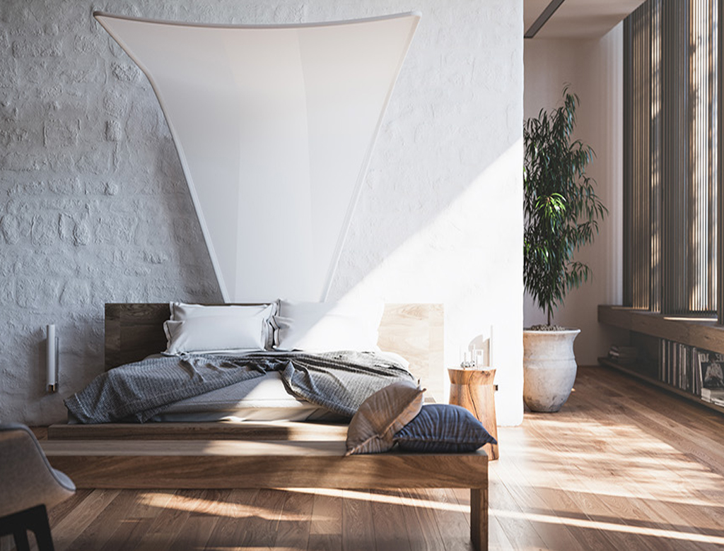 przestrzenna sypialnia wykończona pod klucz | Imperium Wnętrz Kokotów 922