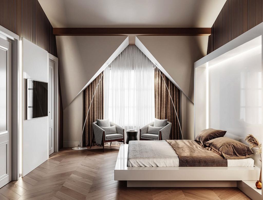Wykończenie sypialni pod klucz | Imperium Wnętrz Kokotów 922