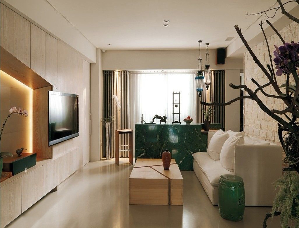 nowoczesny styl w orientalnych wnętrzach