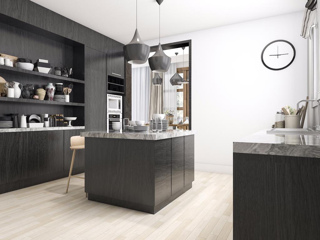 Black and white colours in the kitchen | Imperium Wnętrz Kokotów 922