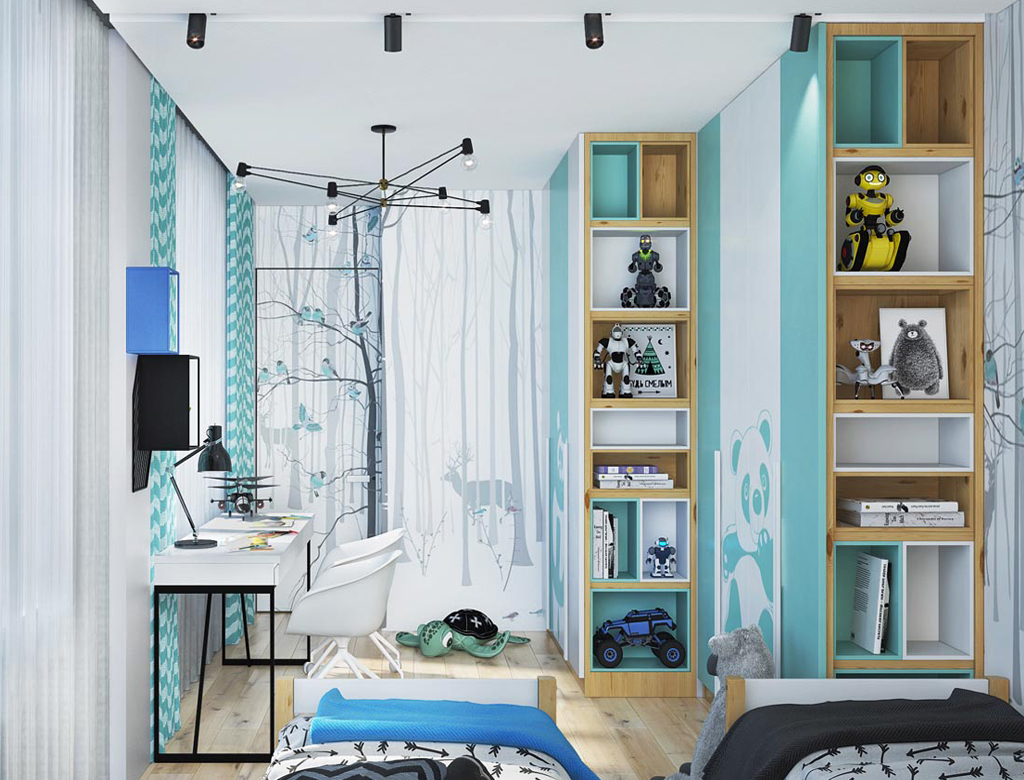 turnkey finishing playroom for girls - general look