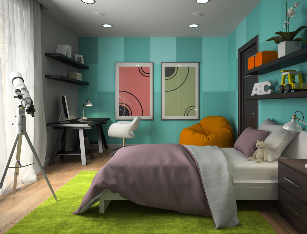 turnkey finishing - space arrangement for playroom