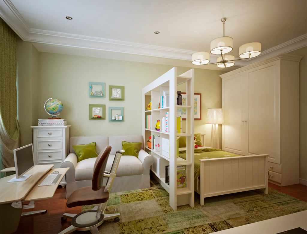 turnkey finishing - flexible arrangements in playroom