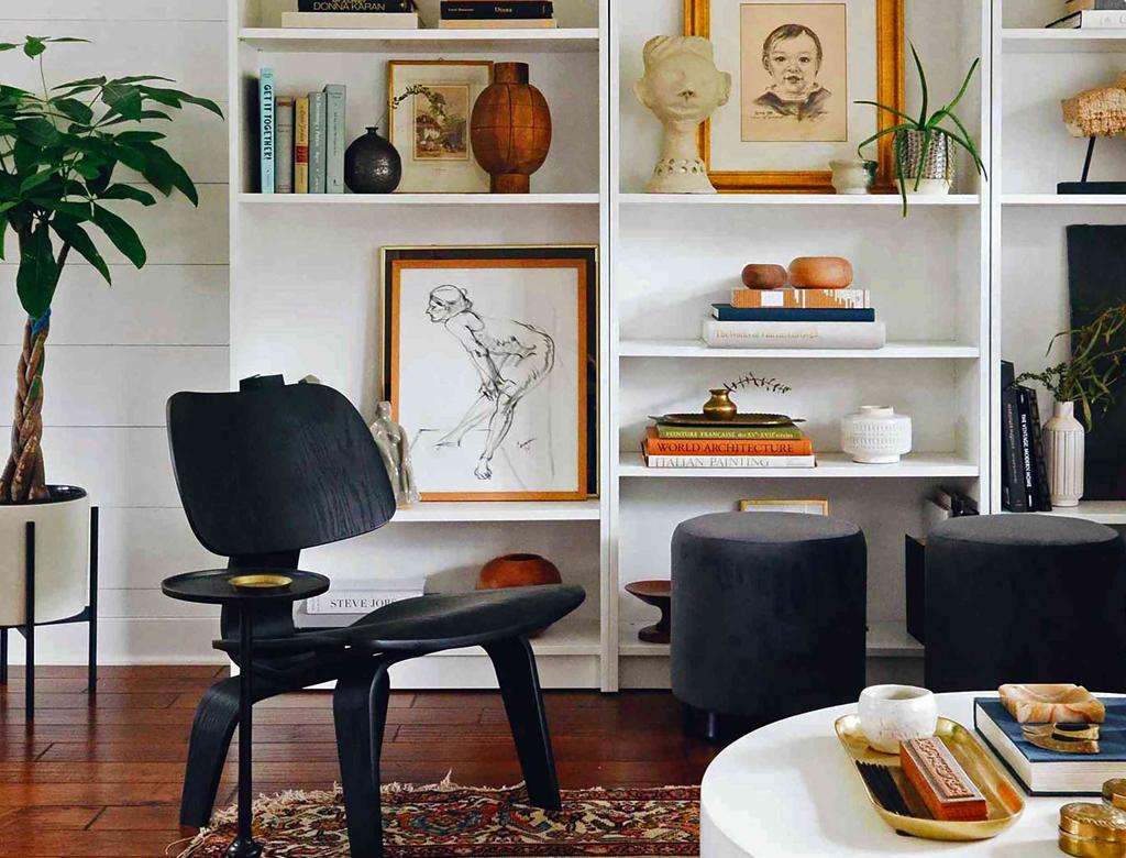 boho eclectic home office w Imperium Wnętrz Kokotów 922